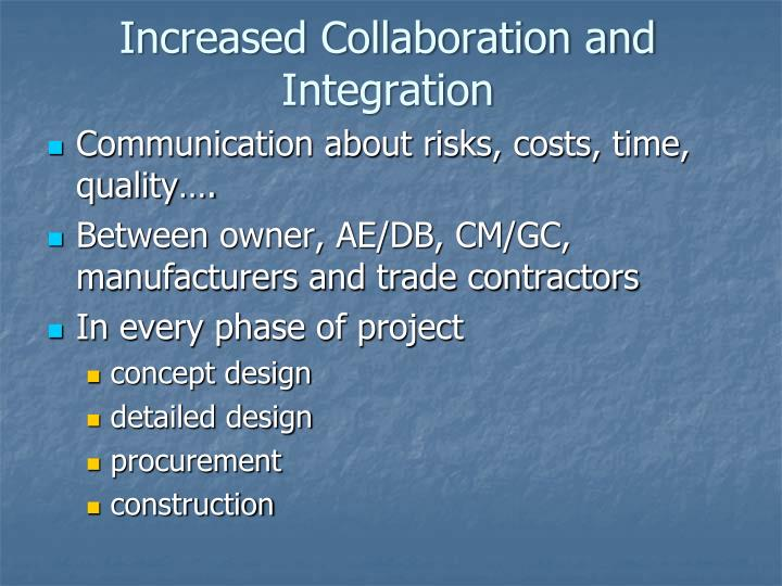 Increased Collaboration and Integration