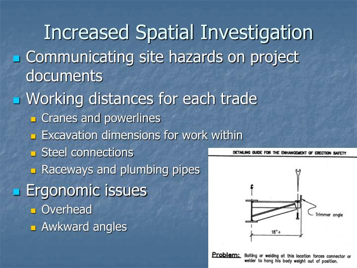 Increased Spatial Investigation