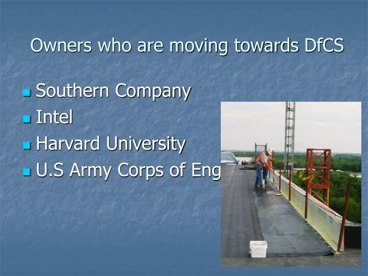 Owners who are moving towards