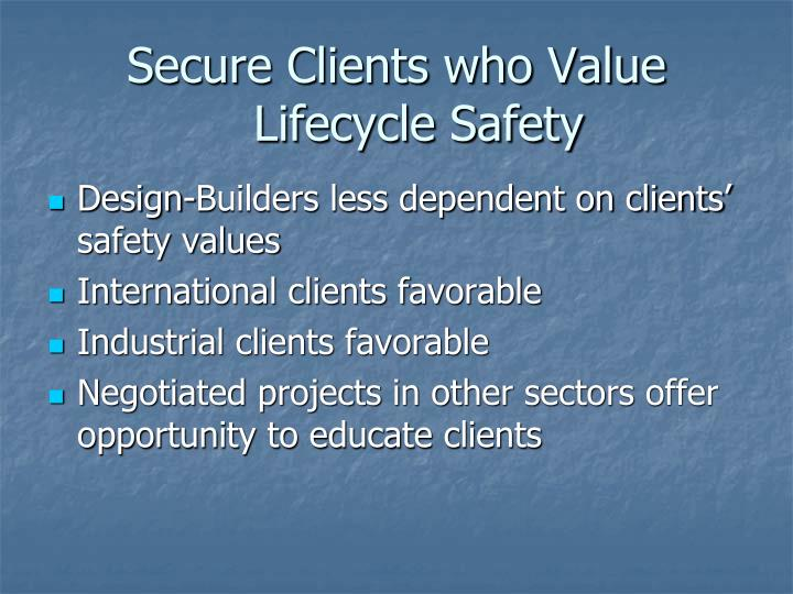 Secure Clients who Value Lifecycle Safety