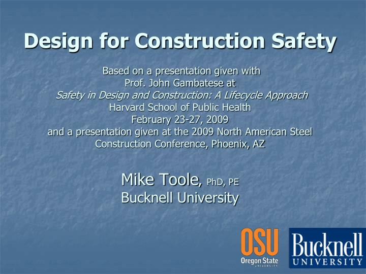 Design for Construction Safety
