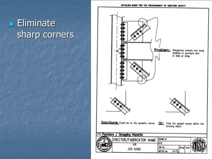Eliminate sharp corners