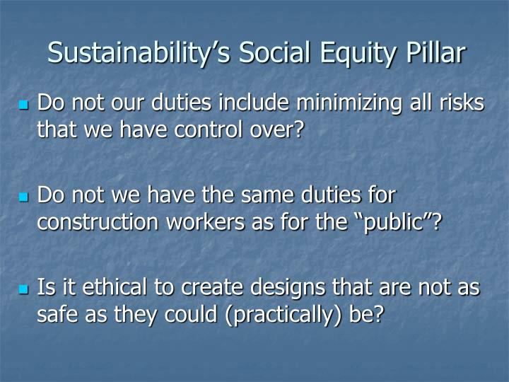 Sustainability's Social Equity Pillar