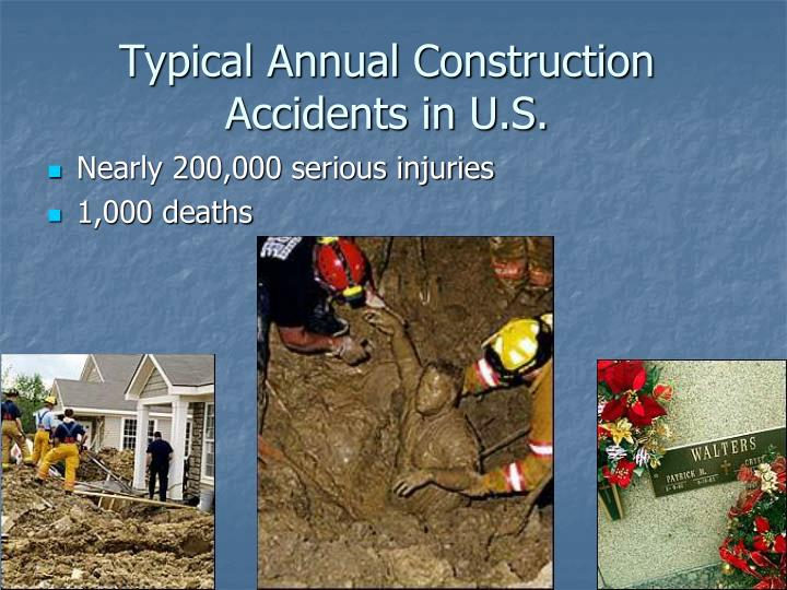 Typical Annual Construction Accidents in U.S.