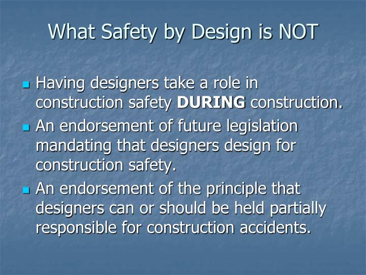 What Safety by Design is NOT