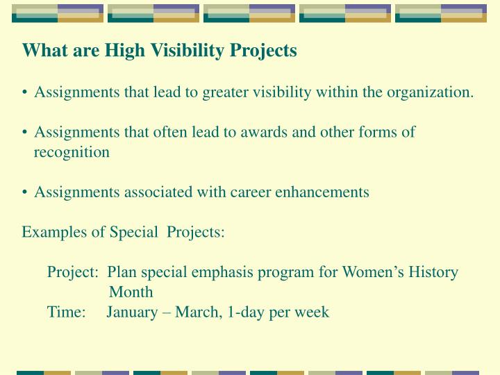 What are High Visibility Projects