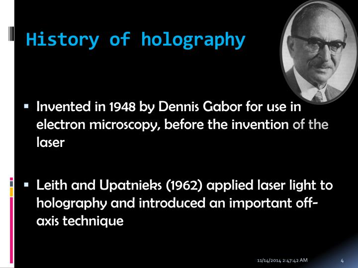 History of holography