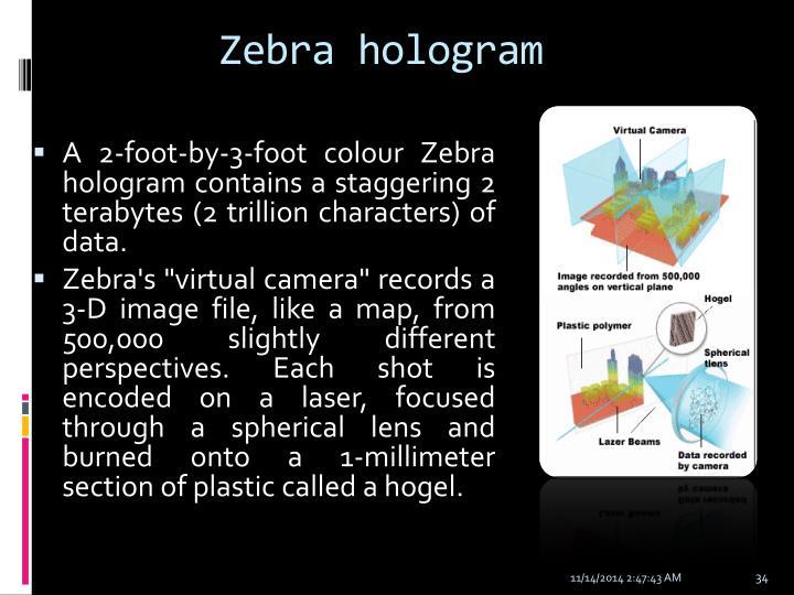 Zebra hologram