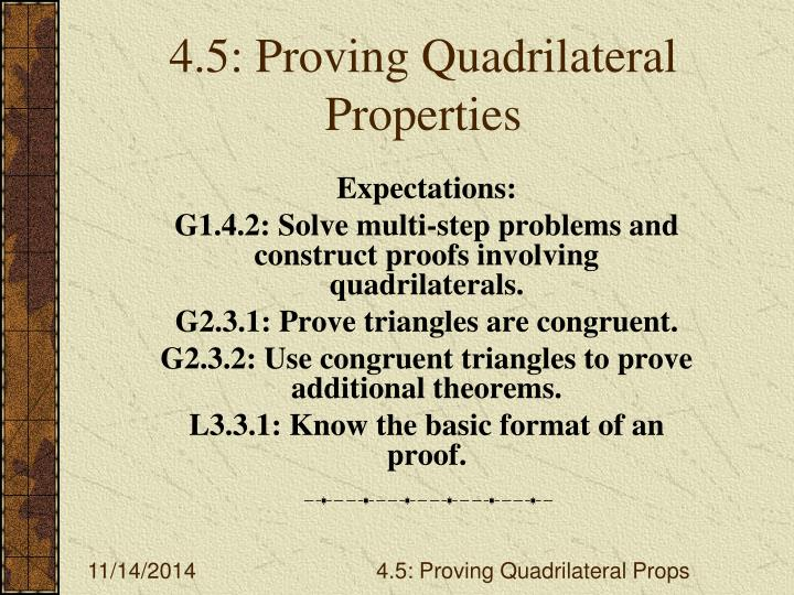 4 5 proving quadrilateral properties