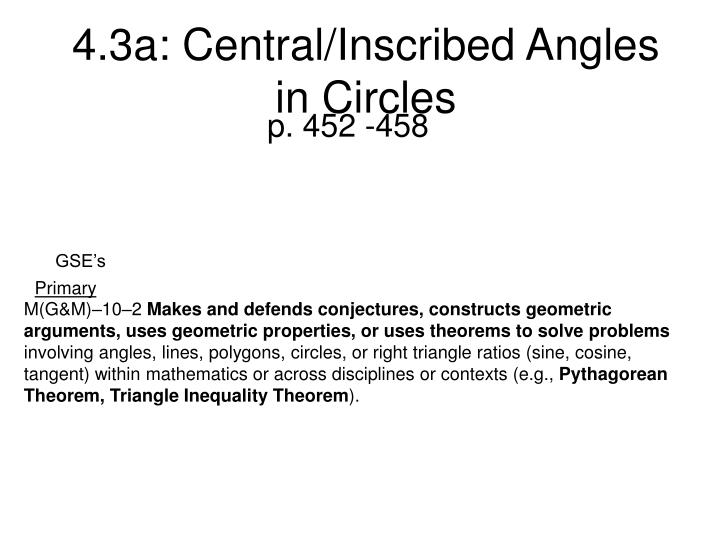 4 3a central inscribed angles in circles