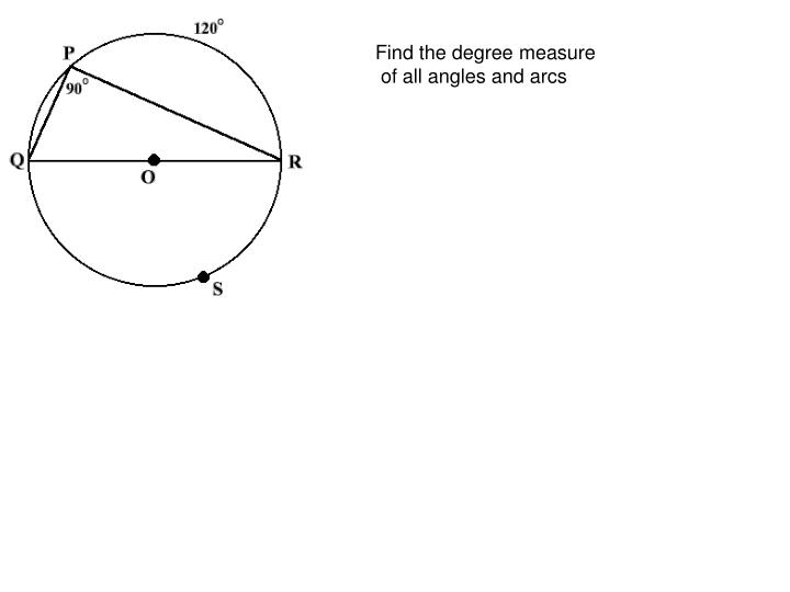 Find the degree measure