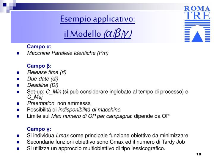 Esempio applicativo: