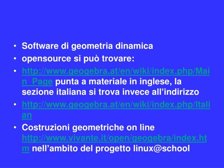 Software di geometria dinamica