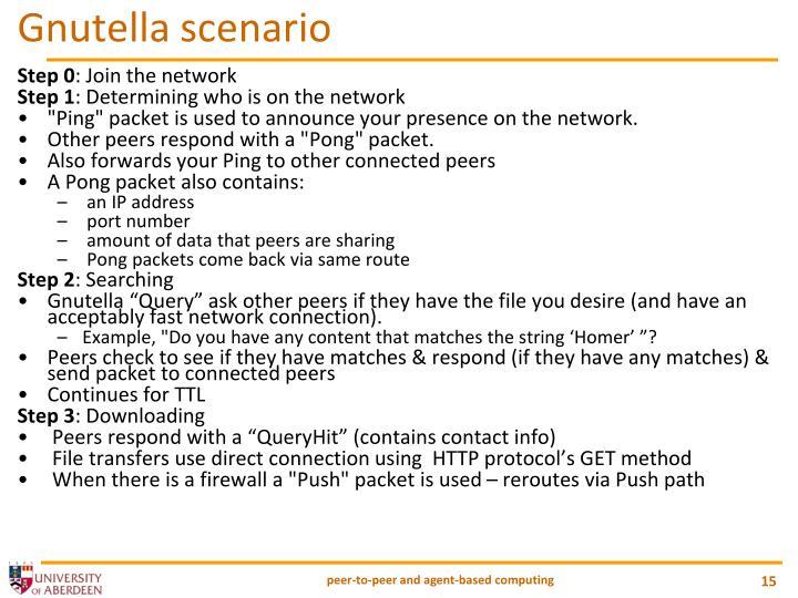 Gnutella scenario
