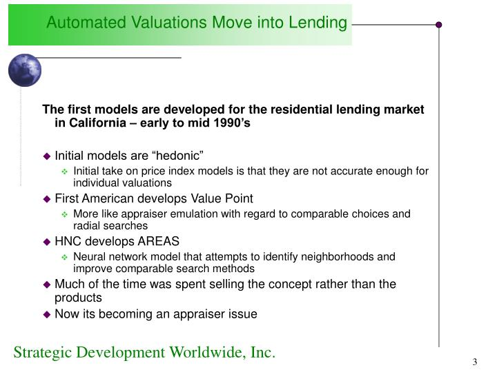 Automated Valuations Move into Lending
