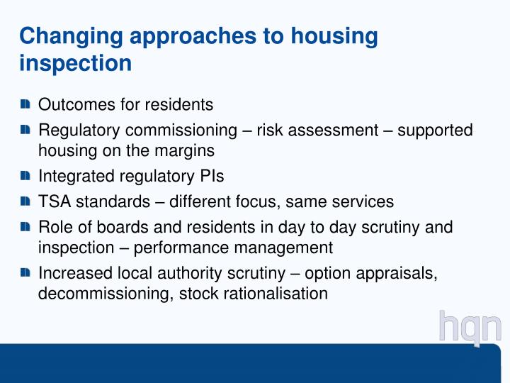 Changing approaches to housing inspection