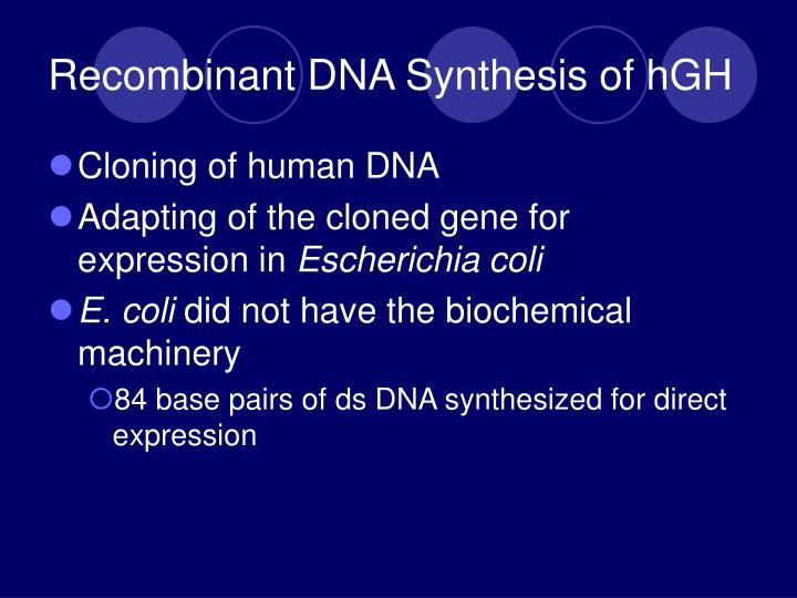 Recombinant DNA Synthesis of hGH