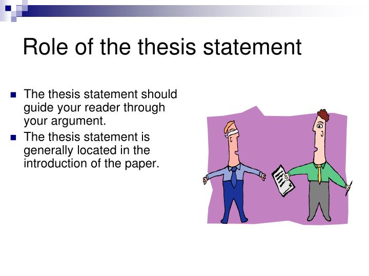 Role of the thesis statement