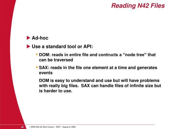 Reading N42 Files