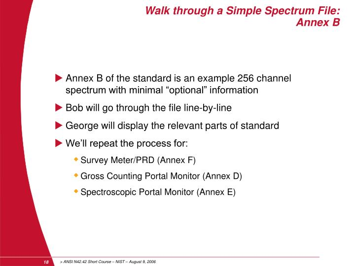 Walk through a Simple Spectrum File: