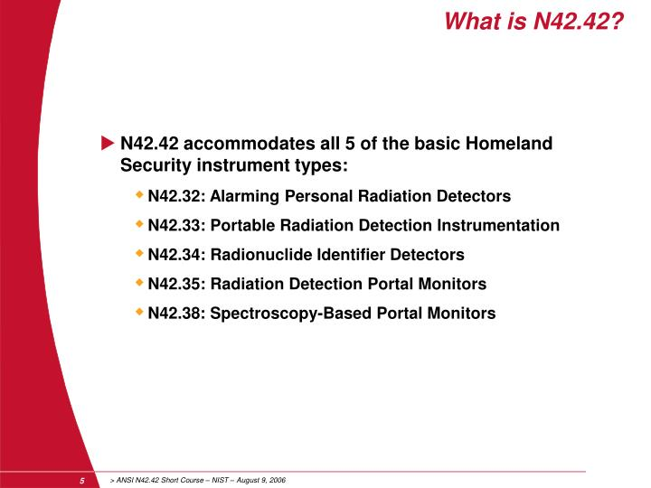 What is N42.42?