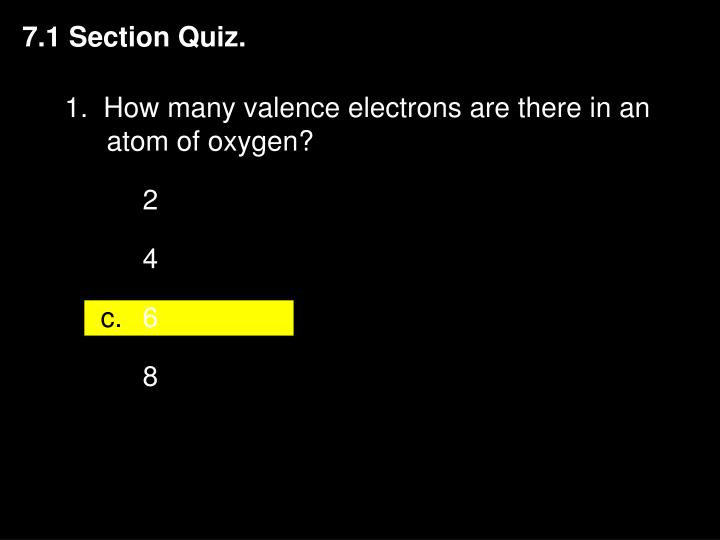7.1 Section Quiz.