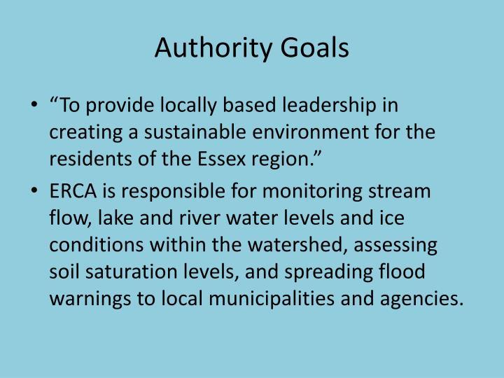 Authority Goals