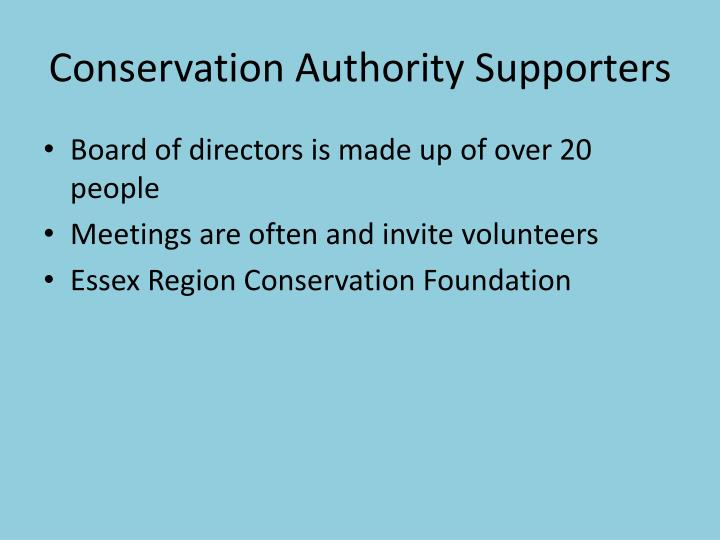 Conservation authority supporters