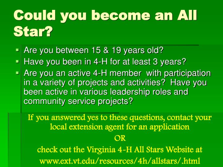 Could you become an All Star?