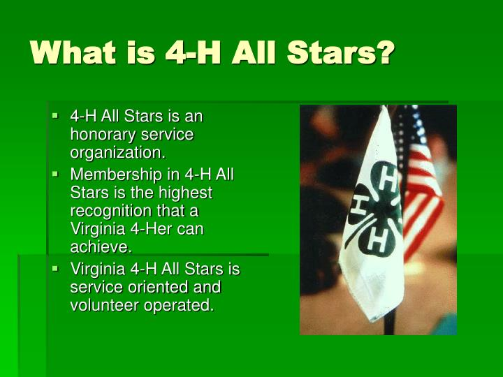 What is 4 h all stars