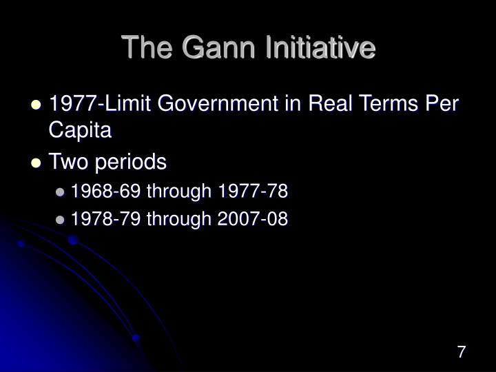 The Gann Initiative