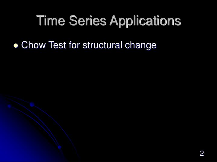 Time Series Applications