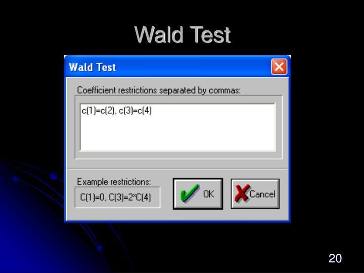 Wald Test