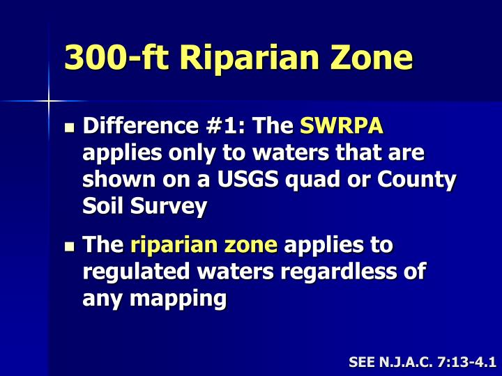 300-ft Riparian Zone