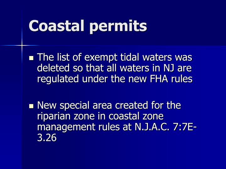 Coastal permits