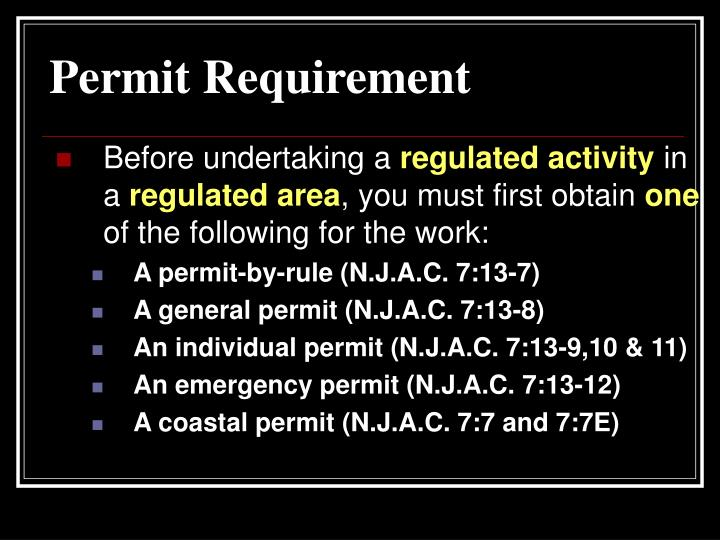 Permit Requirement