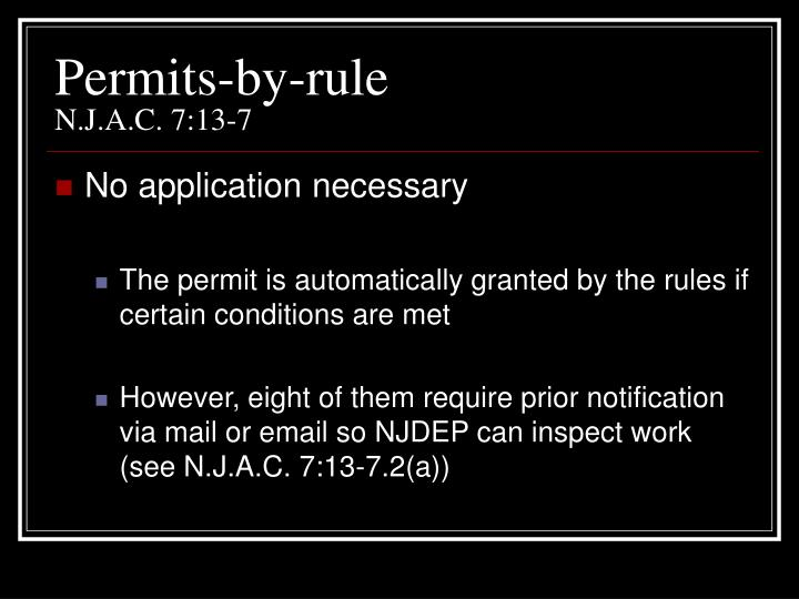 Permits-by-rule