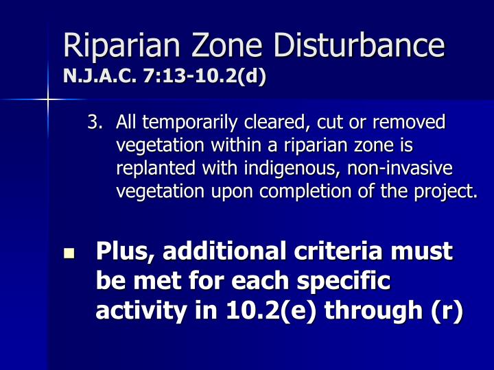 Riparian Zone Disturbance