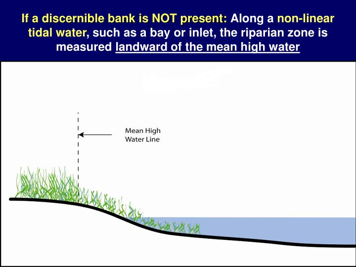 If a discernible bank is NOT present: