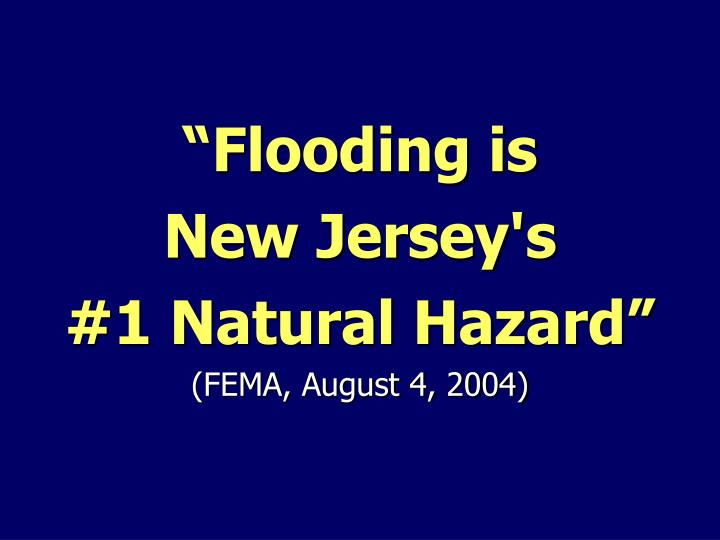 """Flooding is"