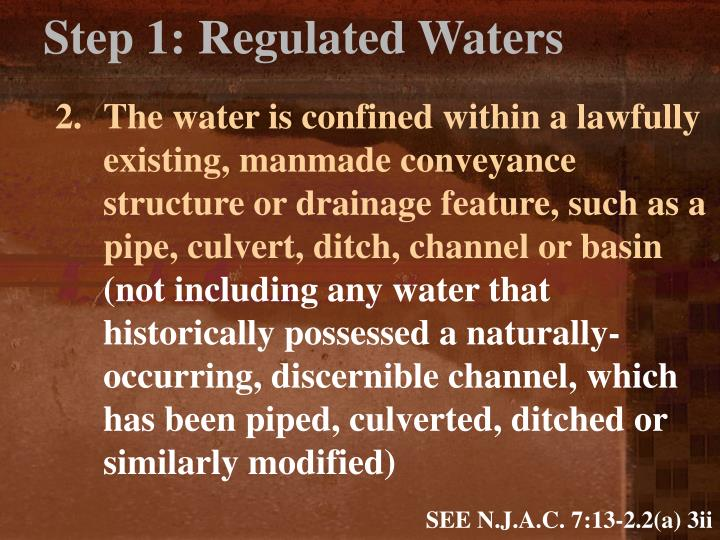 Step 1: Regulated Waters