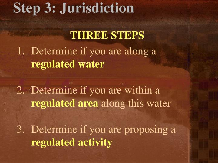 Step 3: Jurisdiction
