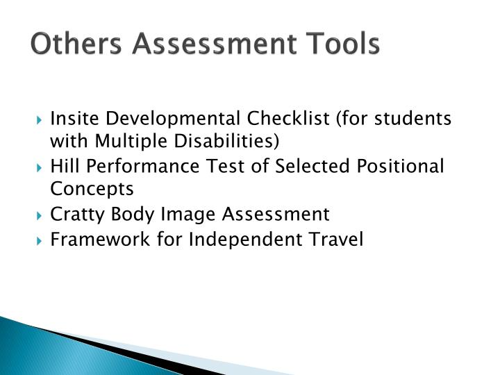 Others assessment tools