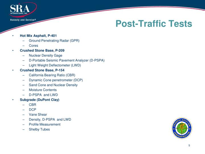 Post-Traffic Tests