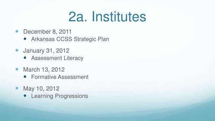 2a. Institutes
