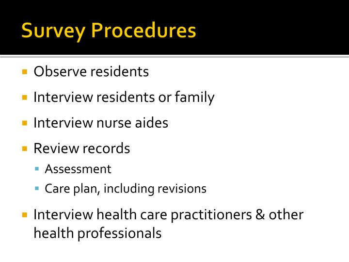 Survey Procedures