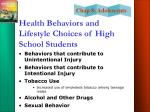 health behaviors and lifestyle choices of high school students