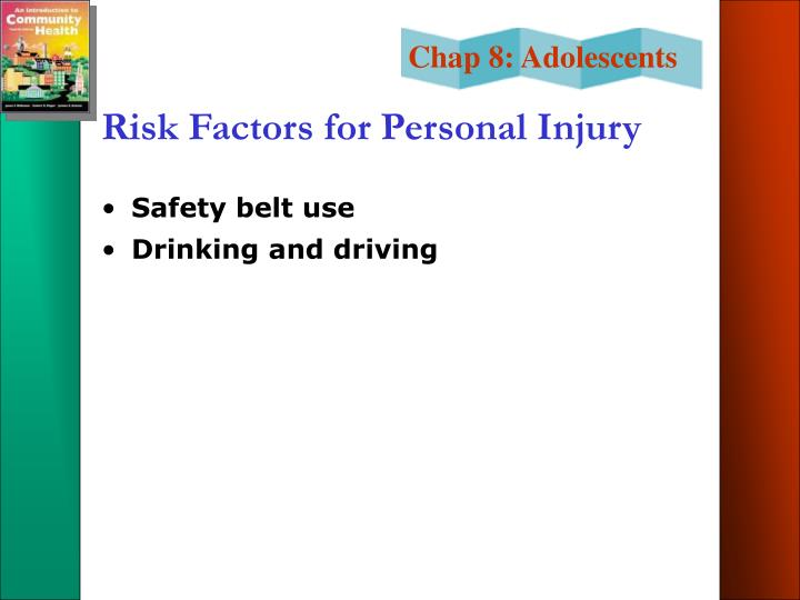 Risk Factors for Personal Injury