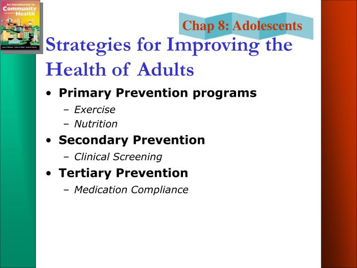 Strategies for Improving the Health of Adults