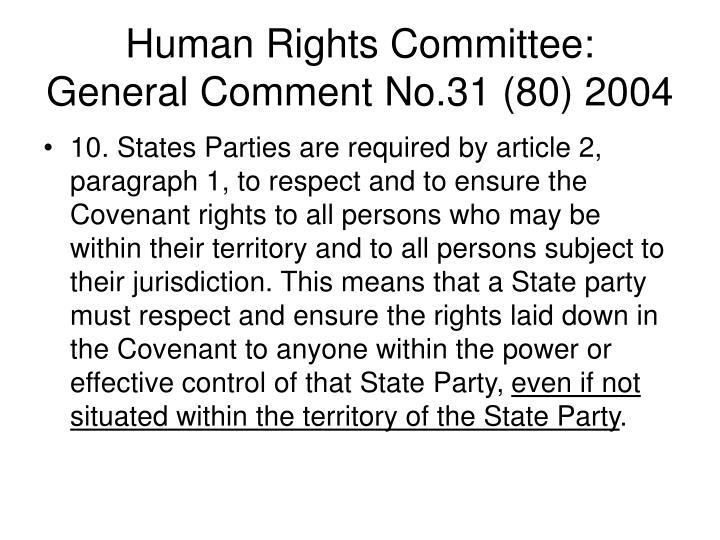 Human Rights Committee: